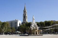 Fontaine de l'Esplanade, dite fontaine Pradier - English:  Fountain Pradier, Esplanade place.