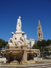 Fontaine de l'Esplanade, dite fontaine Pradier - This building is indexed in the Base Mérimée, a database of architectural heritage maintained by the French Ministry of Culture,under the reference PA00103096 .