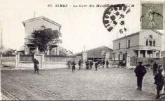 Ancienne gare - Chemins de fer du Gard - Première gare de Nîmes - 1839 - CPA circa 1910