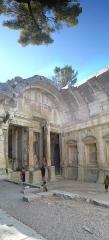 Jardin de la Fontaine - This building is en partie classé, en partie inscrit au titre des Monuments Historiques. It is indexed in the Base Mérimée, a database of architectural heritage maintained by the French Ministry of Culture,under the reference PA00103124 .