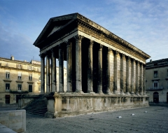 Maison Carrée - This building is indexed in the Base Mérimée, a database of architectural heritage maintained by the French Ministry of Culture,under the reference PA00103125 .