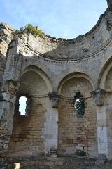 Ruines de la chapelle Saint-Martin - Français:   Vestiges de la Chapelle St Martin. Chœur