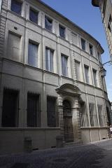 Hôtel Chambon de la Tour - English:  Chambon de La Tour mansion, under renovation.