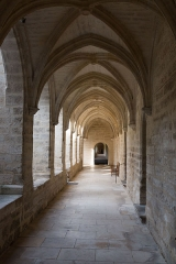 Ancienne chartreuse du Val-de-Bénédiction -  Small cloister gallery.