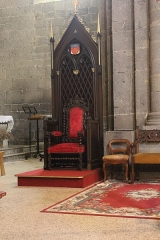 Ancienne cathédrale Saint-Etienne - English: Bishop's throne or Cathedra, Cathedral of Saint-Étienne, Agde, France