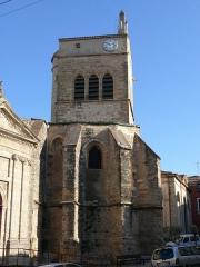 Chapelle des Pénitents, ancienne église paroissiale Saint-Jean-Baptiste - English: The chapel of Pénitents Blancs of Aniane (Hérault, Languedoc-Roussillon, France).