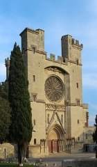Ancienne cathédrale Saint-Nazaire et cloître Saint-Nazaire - English: Cathédrale Saint-Nazaire de Béziers, Western facade
