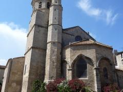 Eglise de la Madeleine - Català: Campanar, torre i absis de l'església de la Magdalena (Besiers)