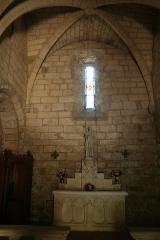 Chapelle Notre-Dame du Peyrou - Français:   Clermont-l\'Hérault (Hérault) - Notre-Dame du Peyrou - chapelle latérale.