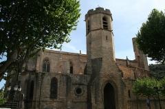 Eglise Saint-Paul - Français:   Clermont-l\'Hérault (Hérault) - Façade nord de la Collégiale Saint-Paul.