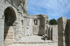 Ancienne abbaye Saint-Félix-de-Montceau - Français:   Gigean ( Hérault - France) - Abbaye Saint-Félix-de-Montceau - chœur roman
