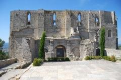 Ancienne abbaye Saint-Félix-de-Montceau - Français:   La façade sud de l\'abbaye Saint-Félix-de-Montceau à Gigean.
