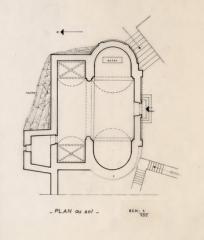 Château - Français:   Laroque - Plan de la chapelle Saint-Jean.