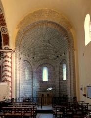 Château - Français:   Laroque - Abside romane de la chapelle Saint-Jean.