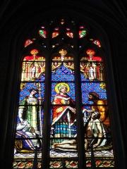 Ancienne cathédrale, actuelle église paroissiale Saint-Fulcran - English: Lodève (Hérault, Fr) vitrail St.Fulcran