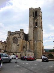 Ancienne cathédrale, actuelle église paroissiale Saint-Fulcran - English: Lodève (Hérault, Fr) cathédrale, chevet