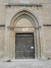 Eglise Sainte-Cécile - Français:   Portail occidental de l\'église Sainte-Cécile de Loupian (34).