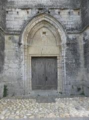 Eglise Sainte-Cécile - Français:   Portail septentrional de l\'église Sainte-Cécile de Loupian (34).