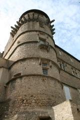 Domaine - Français:   Margon (Hérault) - Tour nord-est du château.