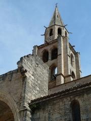 Eglise Saint-André - English: Montagnac. Church of Saint-Andrew (Saint-André). Belltower.