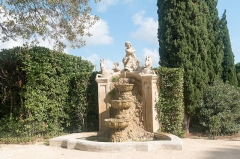 Château d'O -  Fountain on left of the French formal garden.