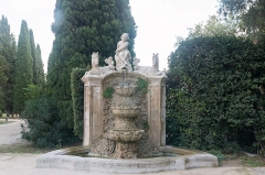 Château d'O -  Fountion on right of the French formal garden.