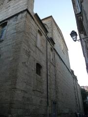 Eglise Notre-Dame des Tables - Català: Façana lateral de l'Església Notre-Dame (Montpeller)