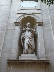 Eglise Notre-Dame des Tables - Català: Escultura (a l'esquerra de la porta) de l'Església Notre-Dame (Montpeller)