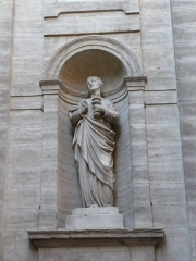 Eglise Notre-Dame des Tables - Català: Escultura (a la dreta de la porta) de l'Església Notre-Dame (Montpeller)
