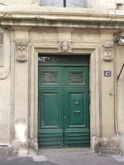 Hôtel de Campan - Català: Porta de l'Hôtel de Campan (Montpeller)