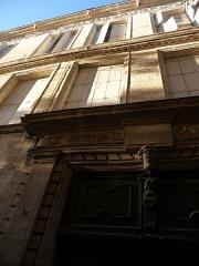 Hôtel de Castan - Català: Façana i part superior de la porta de l'Hôtel de Castan (Montpeller)
