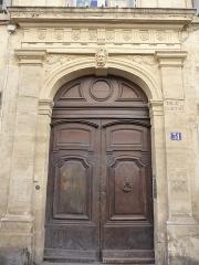 Ancien Hôtel de Castries - Català: Porta de l'Hôtel de Castries (Montpeller)