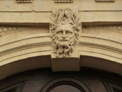Ancien Hôtel de Castries - Català: Detall de l'arc sobre la porta de l'Hôtel de Castries (Montpeller)