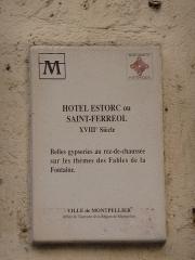 Hôtel Estorc, puis librairie - Català: Hôtel Estorc (Montpeller)