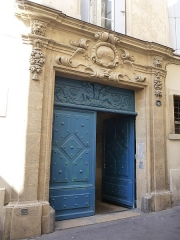 Hôtel de Fizes - Català: Porta de l'Hôtel de Fizes (Montpeller)