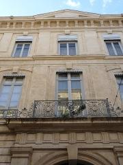 Hôtel de Fourques - Català: Façana principal de l'Hôtel de Fourques