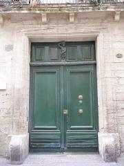 Hôtel de Griffy - Català: Porta principal de l'Hôtel de Griffy (Montpeller)
