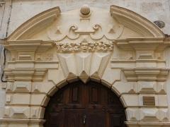 Hôtel Hostalier - Català: Detall de la porta de l'Hôtel Hostalier (Montpeller)