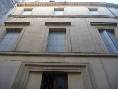 Hôtel de Manse - Català: Part esquerra de la façana de l'Hôtel de Manse (Montpeller)