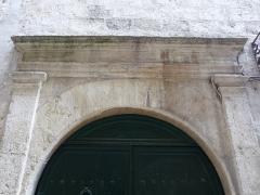 Hôtel de Montcalm - Català: Llinda de la porta de l'Hôtel de Montcalm (Montpeller)