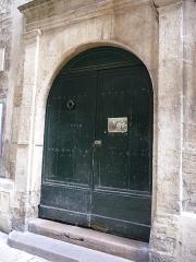 Hôtel de Montcalm - Català: Porta de l'Hôtel de Montcalm (Montpeller)