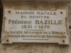 Hôtel Périer - Català: Placa commemorativa a la façana de l'Hôtel Périer