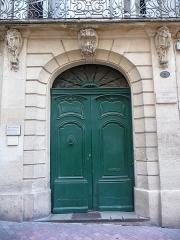 Hôtel Pomier-Layrargues - Català: Porta de l'Hôtel Pomier-Layrargues (Montpeller)