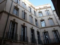 Hôtel Pomier-Layrargues - Català: Part dreta de la façana de l'Hôtel Pomier-Layrargues (Montpeller)