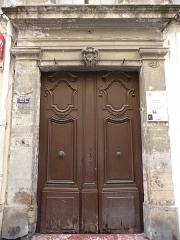 Ancien hôtel Rey - Català:   Porta principal de l\'Hôtel Rey (Montpeller)