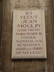 Ancien hôtel Rey - Català: Placa commemorativa a la façana de l'Hôtel Rey (Montpeller)
