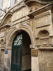 Hôtel de Ricard - Català: Porta de l'Hôtel de Ricard (Montpeller)