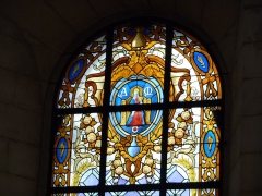 Hôtel de Saint-Côme - Català: Vitrall amb l'escut de Montpeller a l'Hôtel de Saint-Côme (Montpeller)