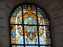 Hôtel de Saint-Côme - Català: Vitrall amb les lletres CCM (Cambra de Comerç de Montpeller) a l'Hôtel de Saint-Côme (Montpeller)