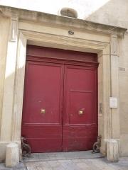 Hôtel de Saint-Félix - Català: Porta de l'Hôtel de Saint-Félix (Montpeller)